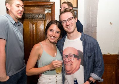 Partying in Danny Devito Shirt